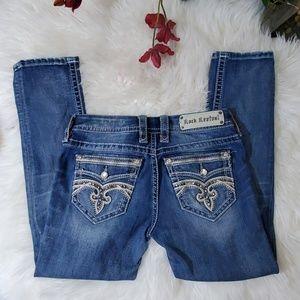 Rock Revival Women's Crop Jeans Medium Wash Sz. 28